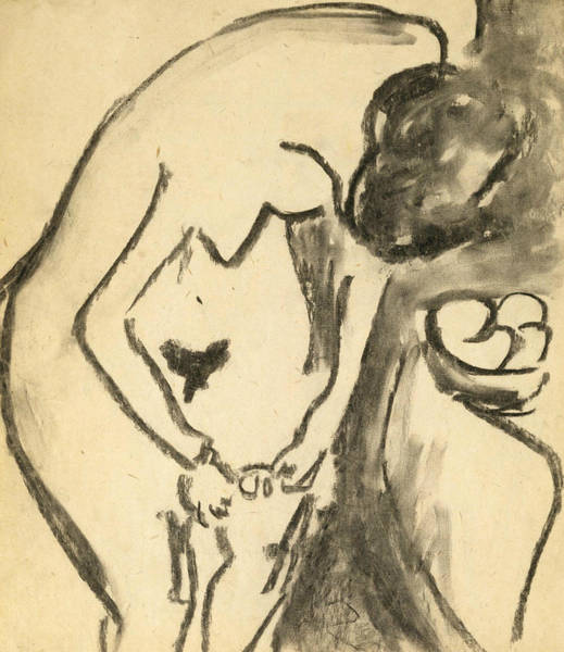 Expressionism Drawing - Nude  by Ernst Ludwig Kirchner