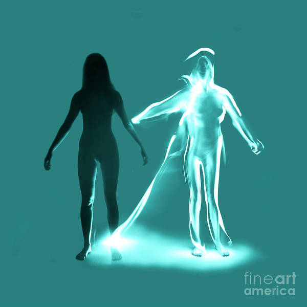 Photograph - Experimental Nude Light Drawing Figure by Clayton Bastiani