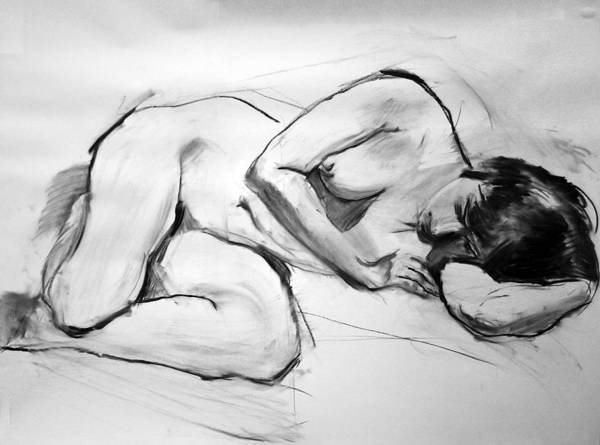 Wall Art - Painting - Nude Figure Drawing - Al by Piotr Antonow