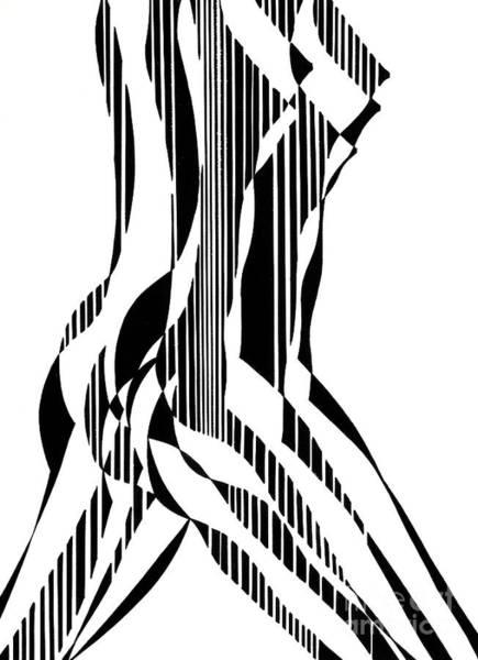 Backdrop Drawing - Nude Figure by Manuel Bennett