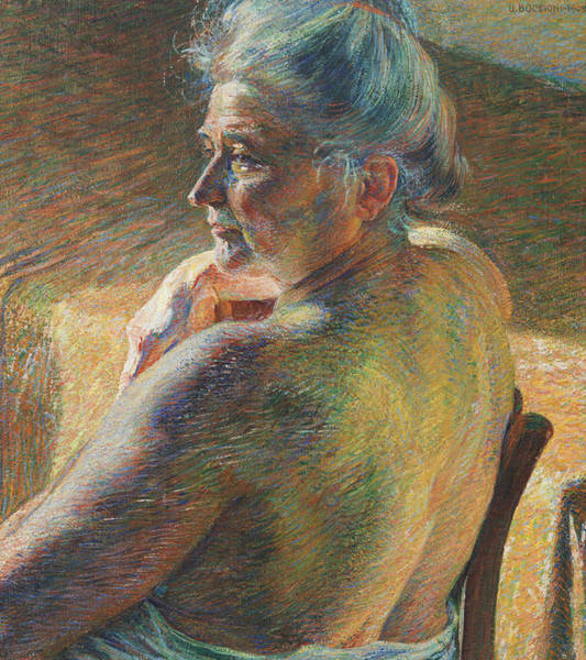 Boccioni Wall Art - Painting - Nude From Behind by Umberto Boccioni
