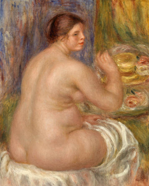 Wall Art - Painting - Nude From The Back by Pierre-Auguste Renoir