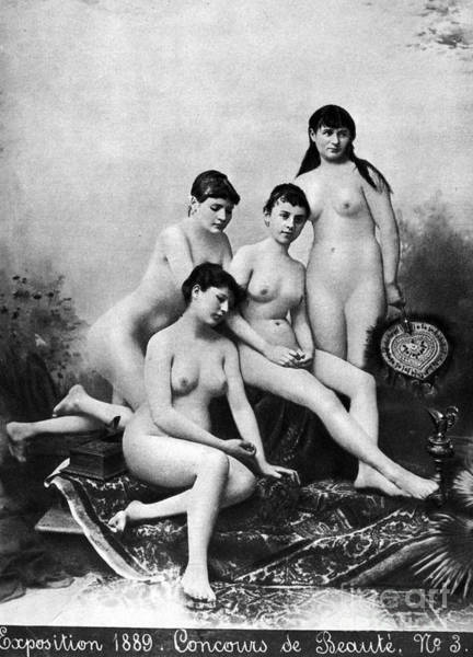 Photograph - Nude Group, 1889 by Granger