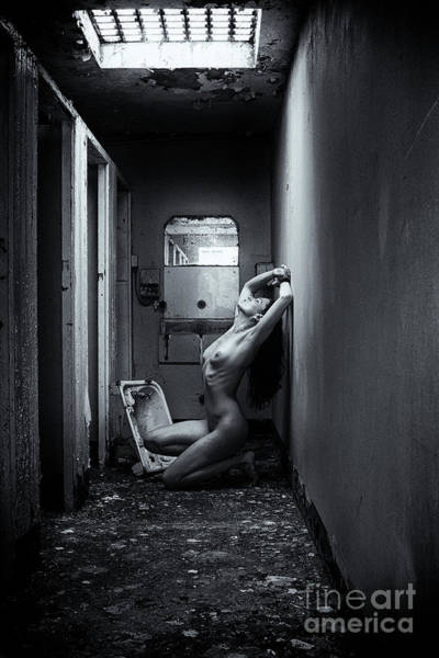 Photograph - Nude In Abandoned Building by Clayton Bastiani