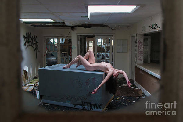 Photograph - Nude In Derelict Room by Clayton Bastiani