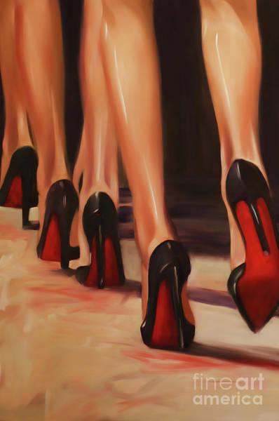 Crossed Legs Painting - Nude Legs by Gull G