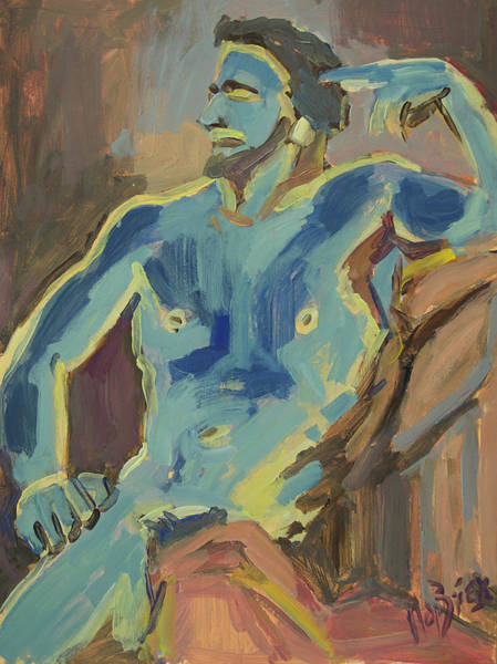 Painting - Nude Man by Nop Briex