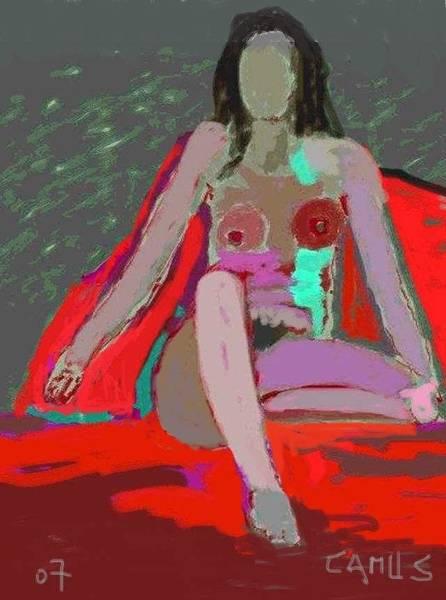 Digitalart Painting - Nude Model 1 by Carlos Camus