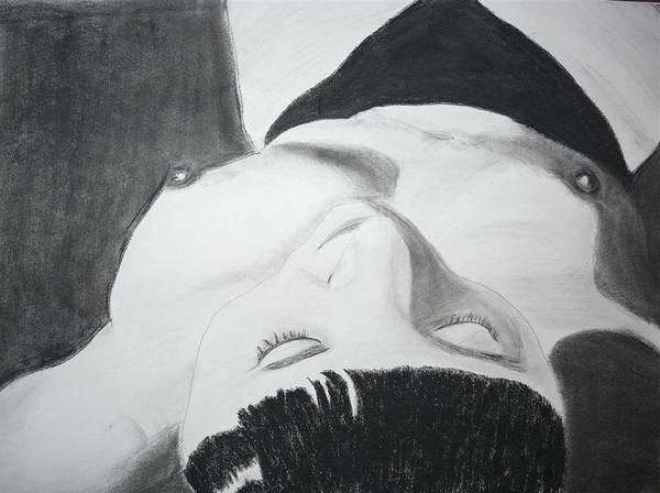 Nipples Drawing - Nude Napper by Cathy Jourdan