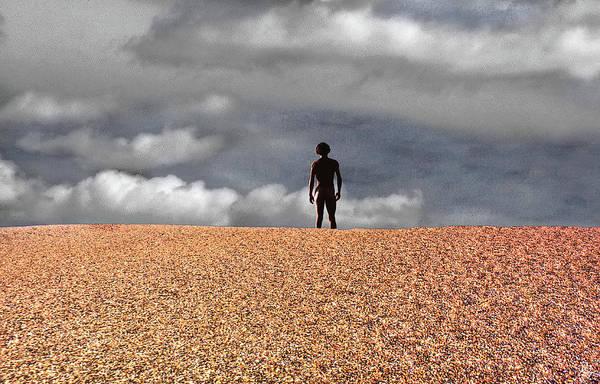 Photograph - Nude On Pebbled Beach by Wayne King