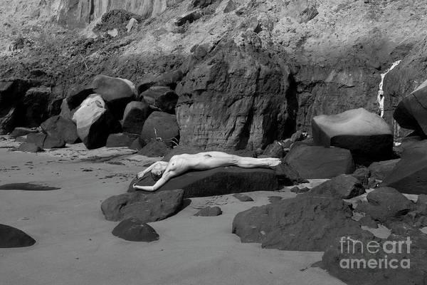 Photograph - Nude On Rocky Beach by Clayton Bastiani