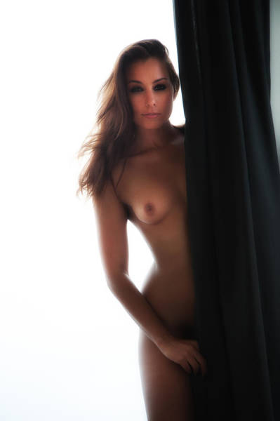 Photograph - Nude Peek-a-boo by Harry Spitz