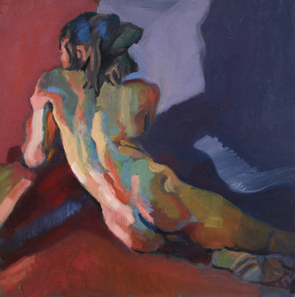 Wall Art - Painting - Nude Portrait Of D by Piotr Antonow