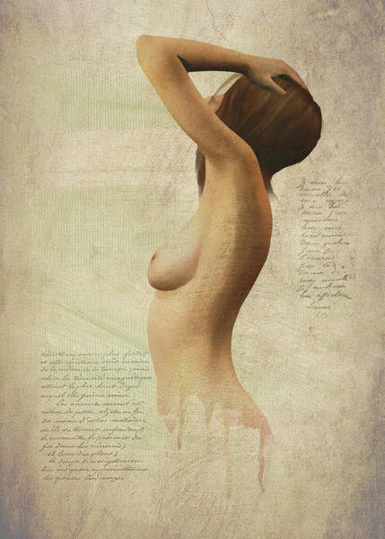 Digital Art - Nude Silhouette by Jan Keteleer