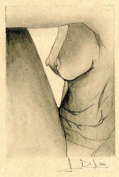 Drawing - Nude Sitting by George D Gordon III