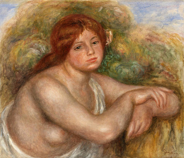 Wall Art - Painting - Nude Study, Bust Of A Woman by Pierre-Auguste Renoir