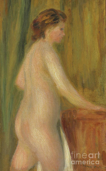 Bare Bottom Painting - Nude With Bath Towel by Pierre Auguste Renoir