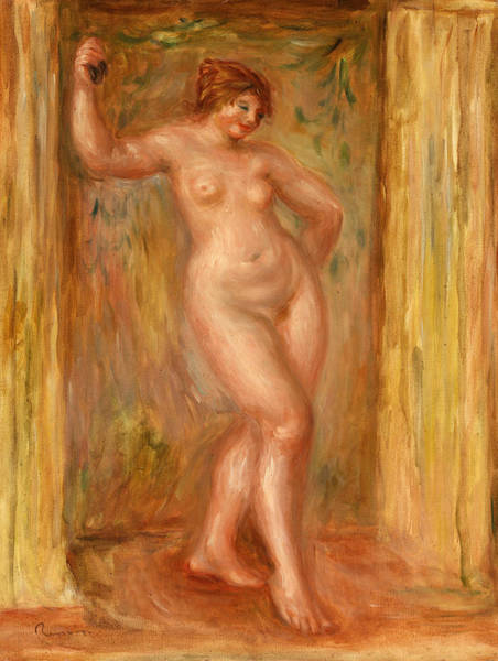 Wall Art - Painting - Nude With Castanets by Pierre-Auguste Renoir