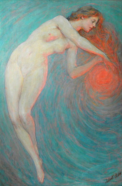 Tits Painting - Nude With Orbit by Robert Lewis Reid