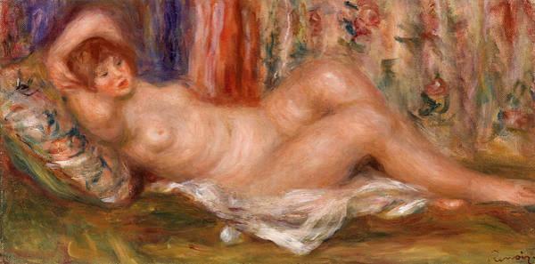 Wall Art - Painting - Nude Woman Reclining by Pierre-Auguste Renoir