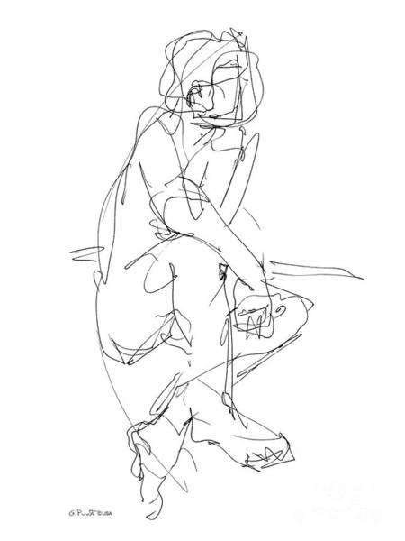 Nude_male_drawing_29 Art Print