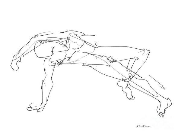 Male Model Drawing - Nude_male_drawings_23 by Gordon Punt
