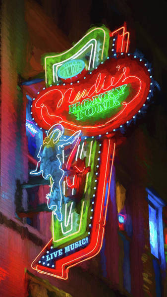 Wall Art - Photograph - Nudie's Honky Tonk - Impressionistic by Stephen Stookey