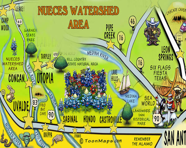 Digital Art - Nueces Watershed Area by Kevin Middleton