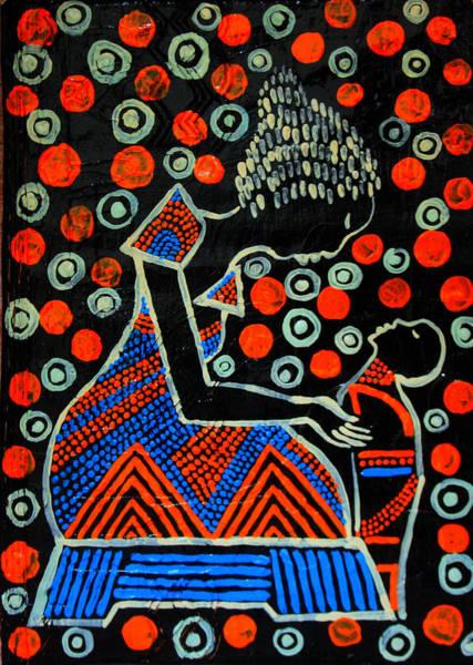 Painting - Nuer Motherhood - South Sudan by Gloria Ssali