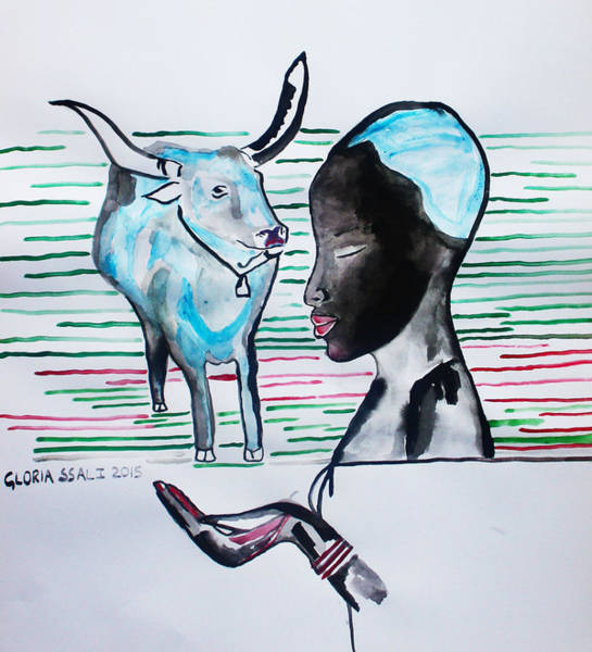 Painting - Nuer Visions - South Sudan by Gloria Ssali
