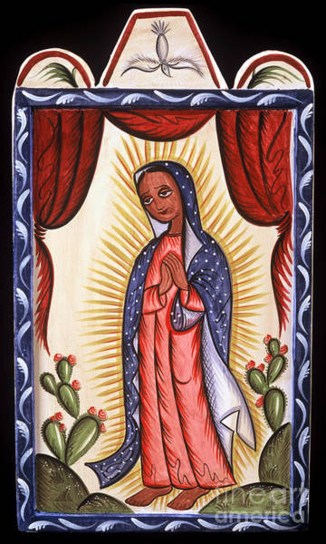 Painting - Nuestra Senora De Guadalupe - Our Lady Of Guadalupe - Aotep by Br Arturo Olivas OFS