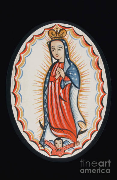 Painting - Nuestra Senora De Guadalupe - Our Lady Of Guadalupe - Aogdl by Br Arturo Olivas OFS