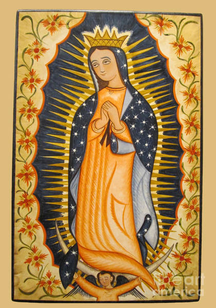Painting - Nuestra Senora De Guadalupe - Our Lady Of Guadalupe - Aolgd by Br Arturo Olivas OFS