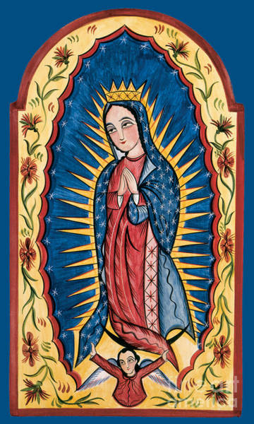 Painting - Nuestra Senora De Guadalupe - Our Lady Of Guadalupe - Aolog by Br Arturo Olivas OFS