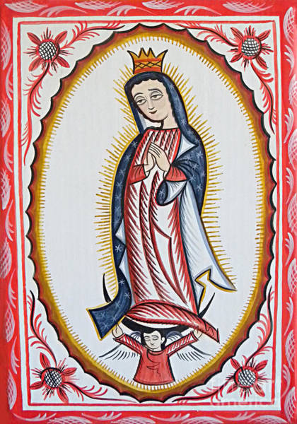 Painting - Nuestra Senora De Guadalupe - Our Lady Of Guadalupe - Aonsg by Br Arturo Olivas OFS