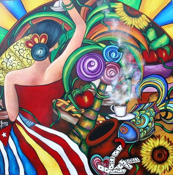Wall Art - Painting - Nuestras Patrias by Annie Maxwell