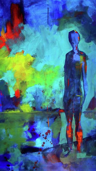 Ultramarine Blue Painting - Nuevo Mundo by Nancy Merkle