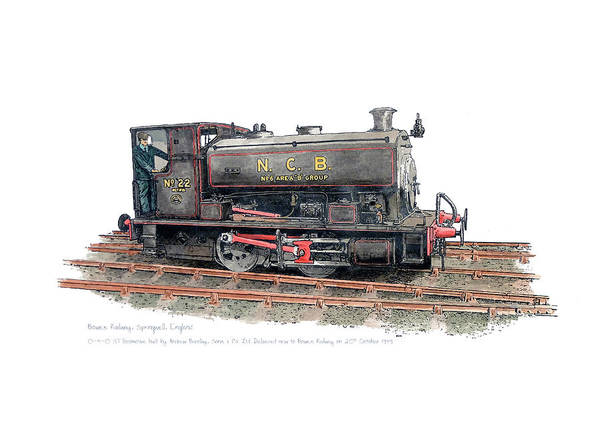 0 Painting - Number 22 Saddle Tank Steam Locomotive by Darin Smith