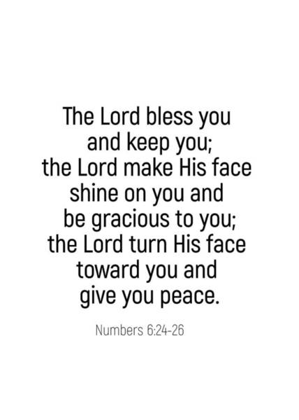 Photograph - Numbers 6 24 #bibleverse #scriptures #blessing by Andrea Anderegg