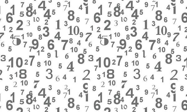 Pattern Digital Art - Numbers by Maye Loeser