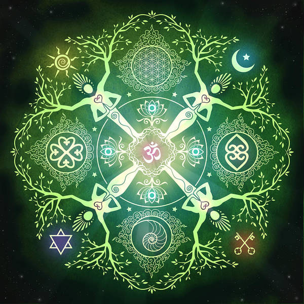 Om Wall Art - Digital Art - Numinosity Mandala by Cristina McAllister