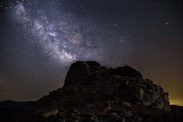Photograph - Nuraghe Of Sardinia Under The Stars by Daniele Fanni
