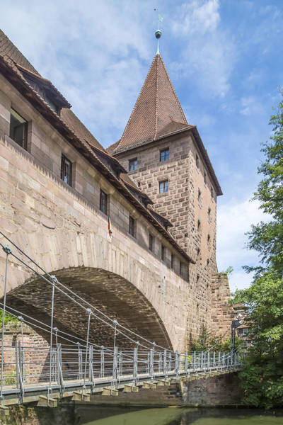 Wall Art - Photograph - Nuremberg Chained Suspension Bridge by Melanie Viola