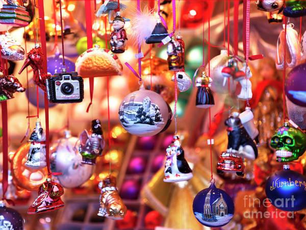 Photograph - Nuremberg Christmas Ornaments by John Rizzuto