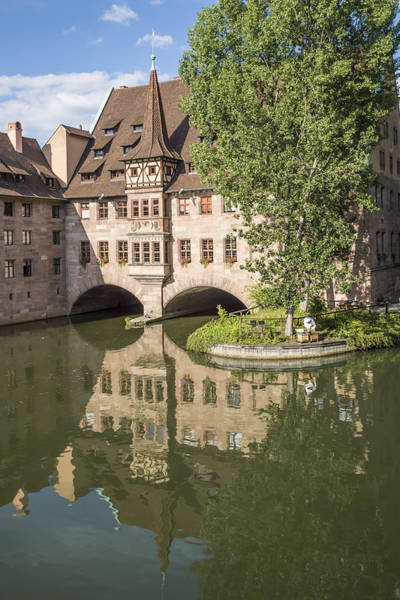 Wall Art - Photograph - Nuremberg Hospital Of The Holy Spirit And River Pegnitz  by Melanie Viola
