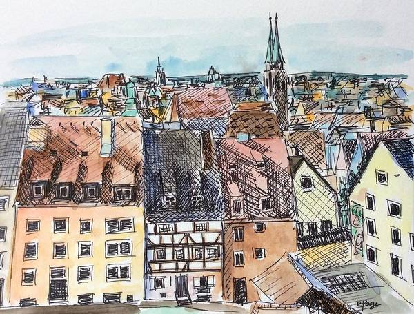 Painting - Nuremberg Views by Emily Page