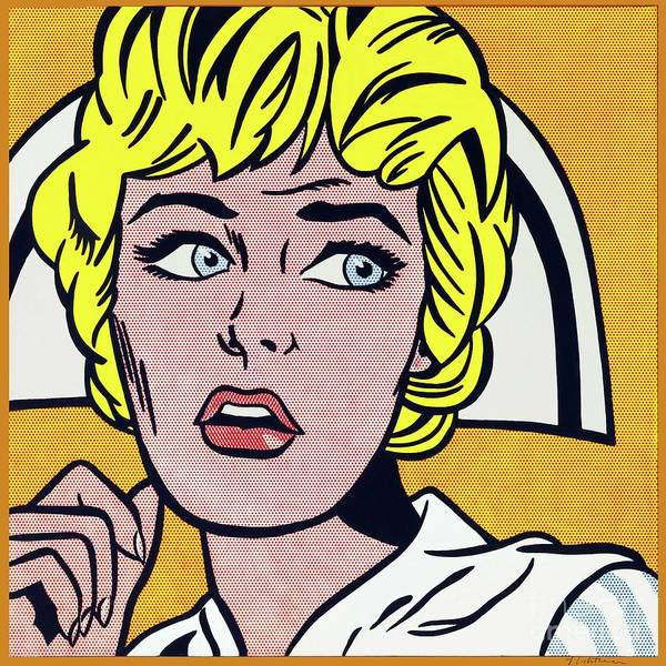 Photograph - Nurse by Doc Braham - In Tribute to Roy Lichtenstein