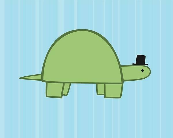 Aqua Digital Art - Nursery Art Boy Turtle by Christy Beckwith