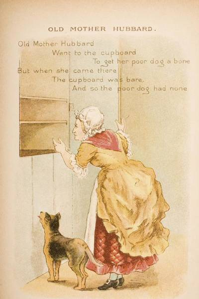 Mother Goose Drawing - Nursery Rhyme And Illustration Of Old by Vintage Design Pics