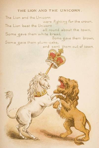 Mother Goose Drawing - Nursery Rhyme And Illustration Of The by Vintage Design Pics